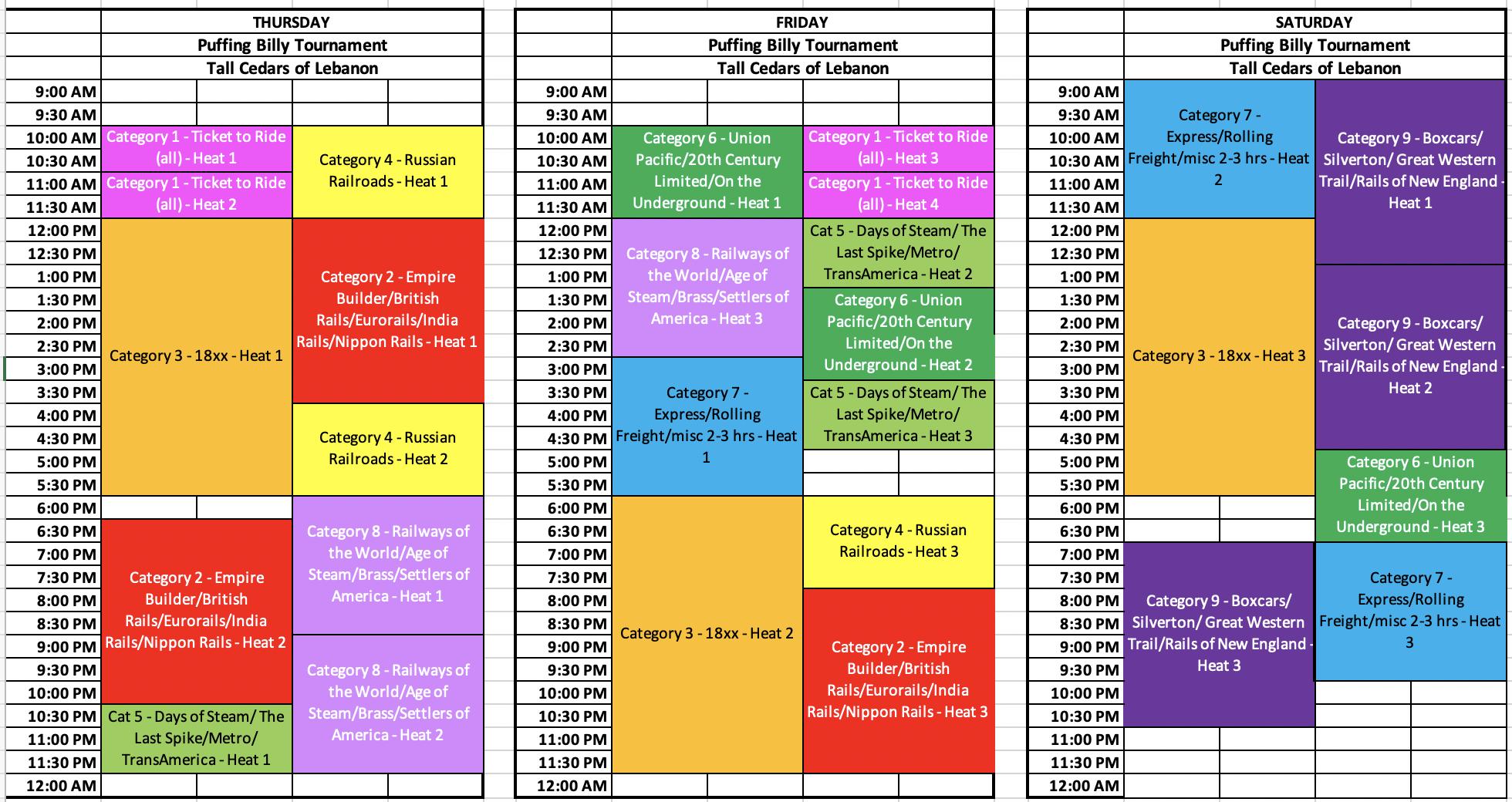Puffing Billy Schedule